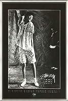 ポスター ステューシー ステューシー20th Anniversary プリント04 額装品 アルミ製ベーシックフレーム(ライトブロンズ)