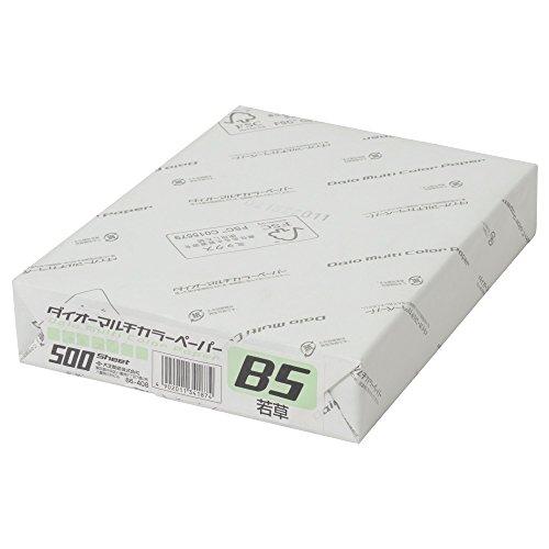 ダイオーマルチカラープリンタ用紙 76408 B5 1冊(500枚) 若草色