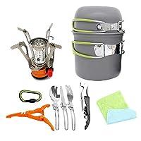屋外のハイキングの食器類アルミニウム調理器具鉢鍋鍋1-2人用