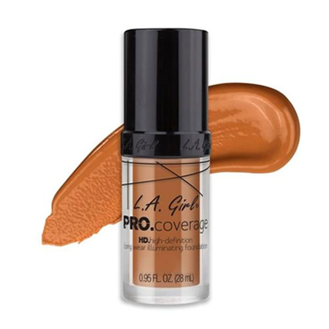 宙返り対話お手入れ(3 Pack) L.A. Girl Pro Coverage Illuminating Foundation - Sand (並行輸入品)