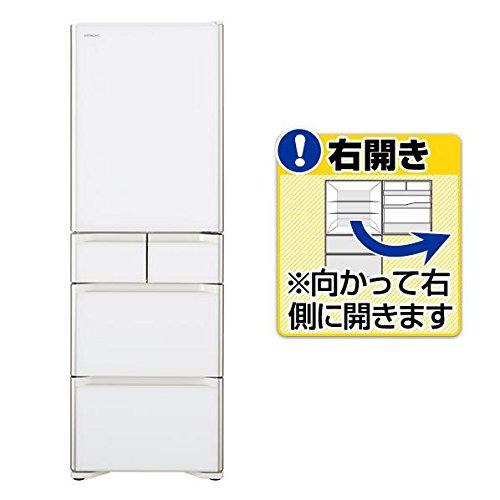 日立 401L 5ドア冷蔵庫(クリスタルホワイト)【右開き】H...