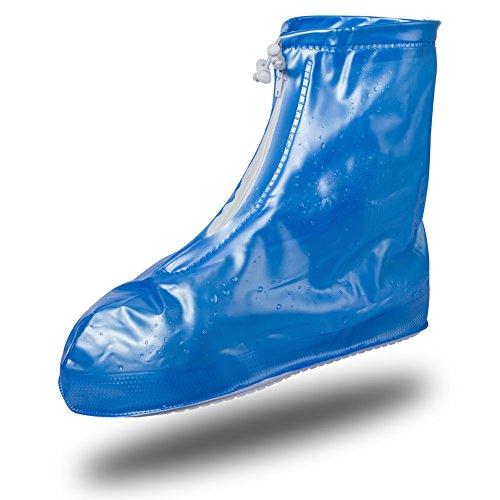 (ビアンウィア)Beownwear 雨雪 用 シューズ カバー レインシューズ 男女兼用(XL,ブルー)