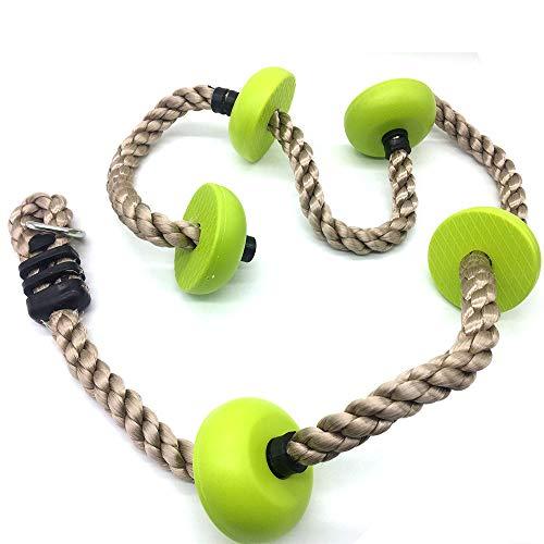 RoomClip商品情報 - Toymentノットロープ室内、クライミングロープ 、外遊び、アウトドア、登山 、登り用、練習 (グリーン)