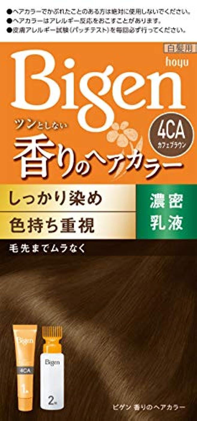 ゴネリルたっぷり薬剤師ホーユー ビゲン香りのヘアカラー乳液4CA (カフェブラウン) 1剤40g+2剤60mL [医薬部外品]