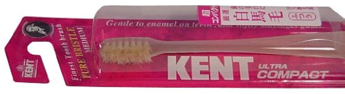 スラム街無能トークンKENT 白馬毛歯ブラシ 超コンパクトヘッド ふつう KNT-0232 ×3個セット