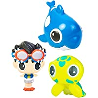 Bling Buddiezフローティング水のおもちゃバスタブとプール – 3、プールBath Toys for Toddlers & Kids With再利用可能なキャリーケース – Diver Buddiez