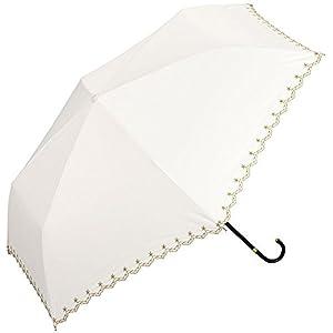 w.p.c 日傘 晴雨兼用 折りたたみ 遮光 星柄 スカラップ オフ 50cm 801-972