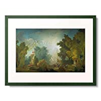 ジャン・オノレ・フラゴナール Jean Honoré Fragonard 1732-1806 「The Festival in the Park of St. Cloud. 1778-80」 額装アート作品
