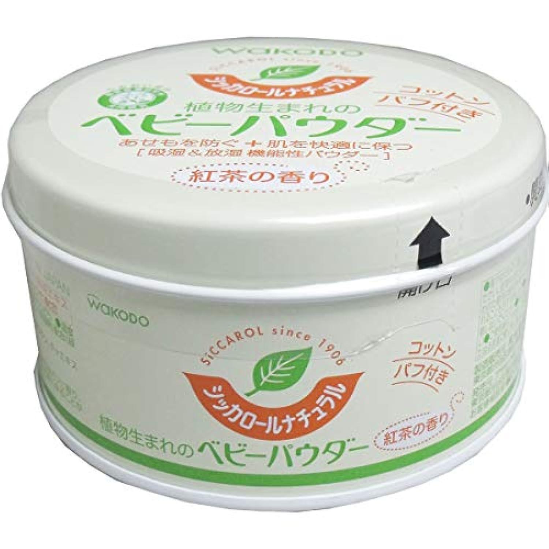 送込 和光堂 シッカロールナチュラル ベビーパウダー 紅茶の香り 120g 6個セット