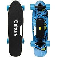 CEITURA スケートボード スケボー 電動スケートボード 充電式 時速15KM/h 持ち運びに便利 高精度 集中力や平衡感覚育成 スケートボード工具付き 初心者におすすめ 大人/若者/子供用 【メーカー保証】