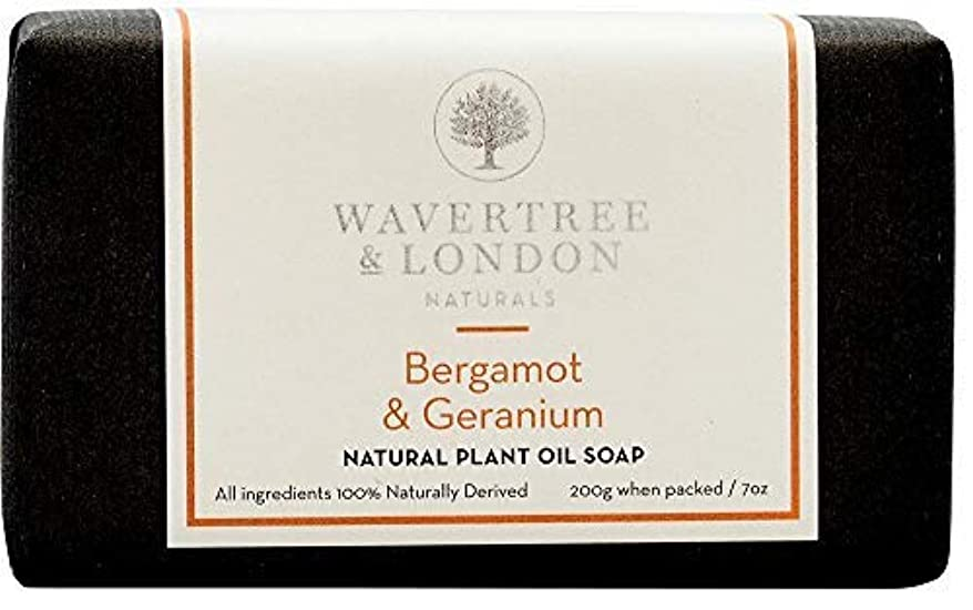 ミシン目理想的には印象的なWavertree and London Wavertree&ロンドンベルガモット&ゼラニウム(1バー) - トリプル粉砕(2回)シアバターソープバーリッチ&クリーミー泡