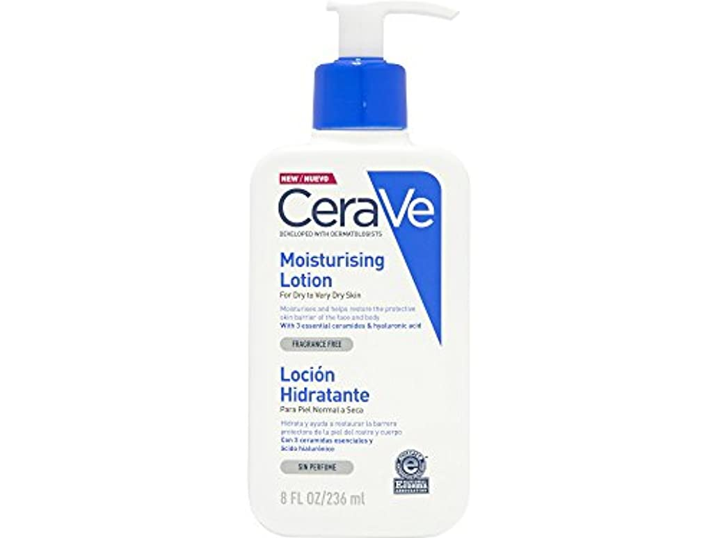 伝染性のチート不潔Cerave Moisturizing Lotion Dry And Very Dry Skin 236ml [並行輸入品]