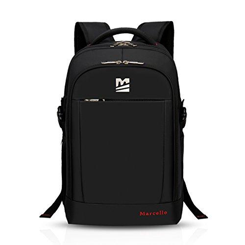 FANDARE ファッション15.6インチな ラップトップカレッジリュックサック旅行ハイキング多機能多目的就職出張通勤鞄バッグのラップトップとタブレットコンピュータ男性女性バッグにフィットなバックパッPC大容量防水ポリエステル ブラック