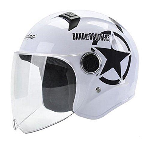 GOHAN バイクヘルメット ハーフヘルメット 開閉式シール...