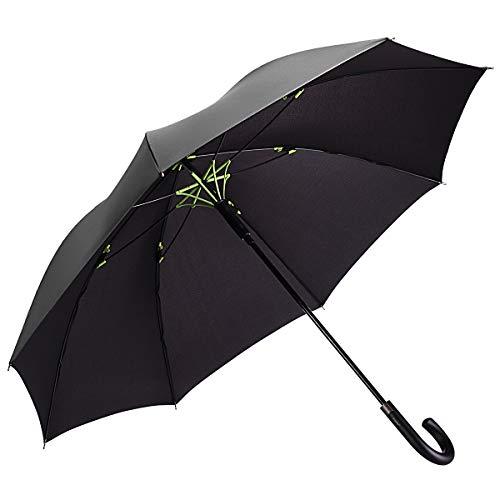 二層傘骨構造 Vialifer 長傘 大雨対応 テフロン撥水...