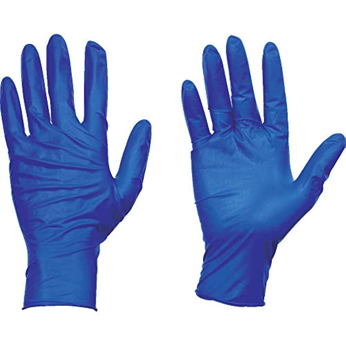 起点嫌い対話TRUSCO(トラスコ) 使い捨て天然ゴム手袋TGセーフ 0.12 粉無青S 100枚 TGNL12BS