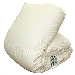 ハンガリー産 ホワイト グースダウン 90% ツインキルト 羽毛布団 ダウンパワー350 日本製 (シングル)