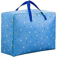 [えみり] ボストンバッグ 不織布製 引っ越し 運搬 衣類?布団収納袋 布団収納ケース 撥水バッグ キャンプ 旅行 花柄 寝具収納 持ち運びやすい
