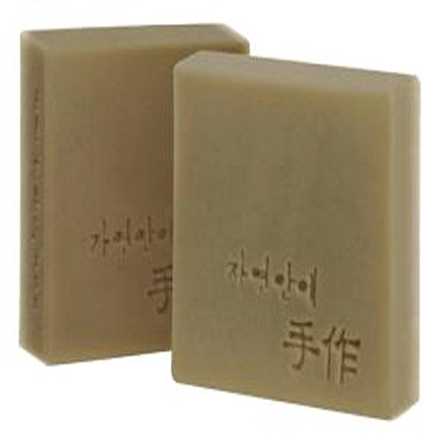 ローラー流事前にNatural organic 有機天然ソープ 固形 無添加 洗顔せっけんクレンジング 石鹸 [並行輸入品] (オートミール)