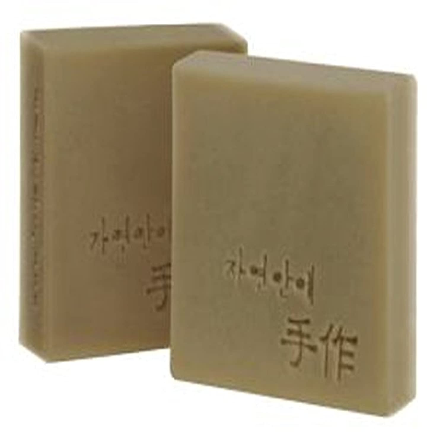マウントバンク遠え滑るNatural organic 有機天然ソープ 固形 無添加 洗顔せっけんクレンジング 石鹸 [並行輸入品] (オートミール)