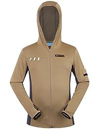 HYSENM 速乾ジャケット 帽子付き 日よけ コート 長袖 UVカット ジャケット スポーツ 竹繊維 COOLPASS 吸湿 抗菌 通気 お釣り 旅行 キャンプ メンズ