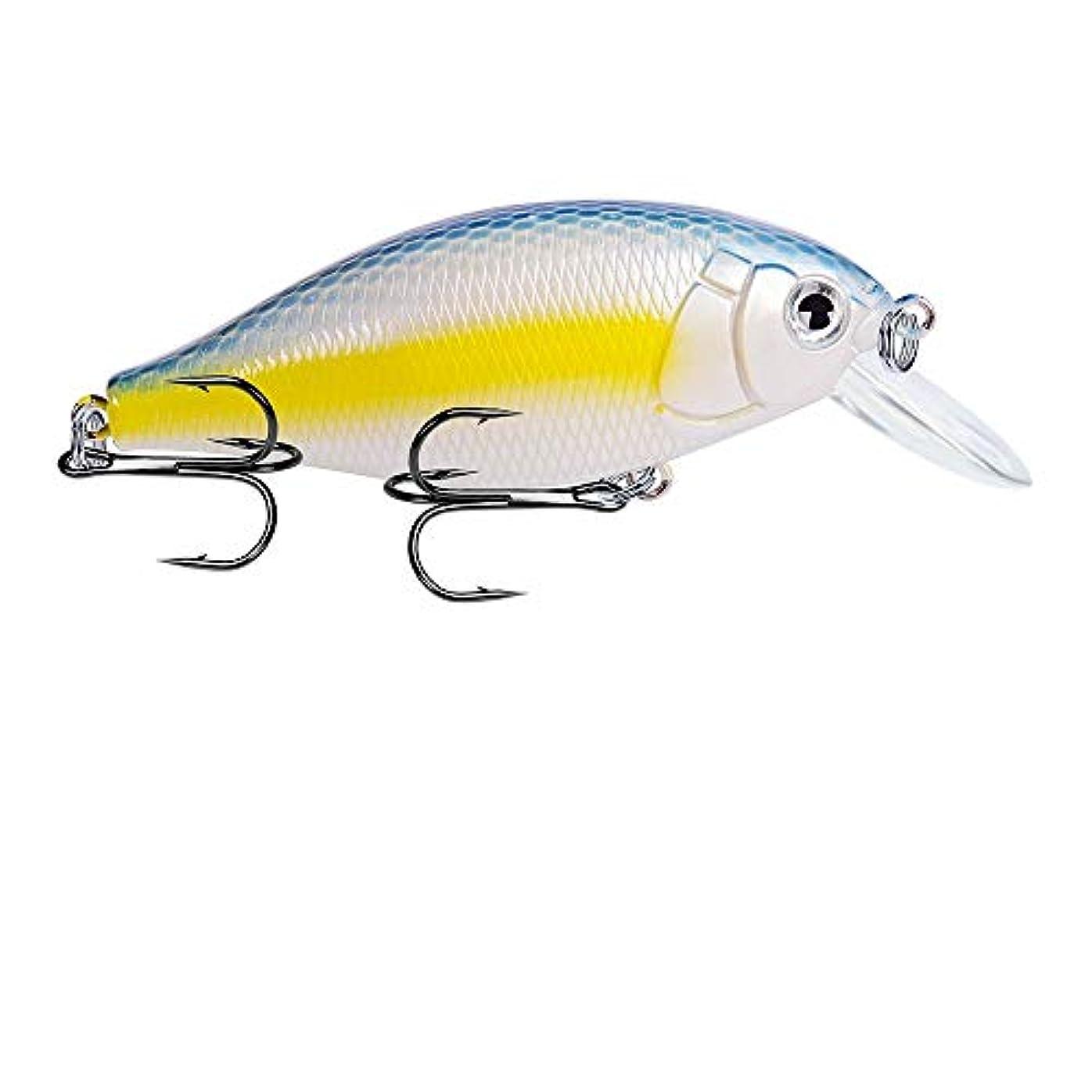 楕円形社交的酸っぱいHkkint 釣り餌釣り餌新しい岩釣り餌7 cm / 13.04 gプラスチックバイオニック餌5色古典ルアー餌 (Color : G)