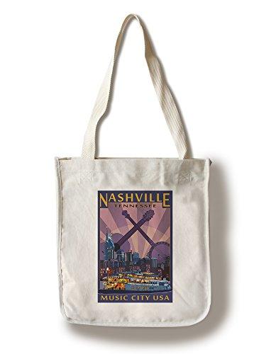 ナッシュビル テネシー 夜の地平線 Canvas Tote Bag LANT-40419-TT