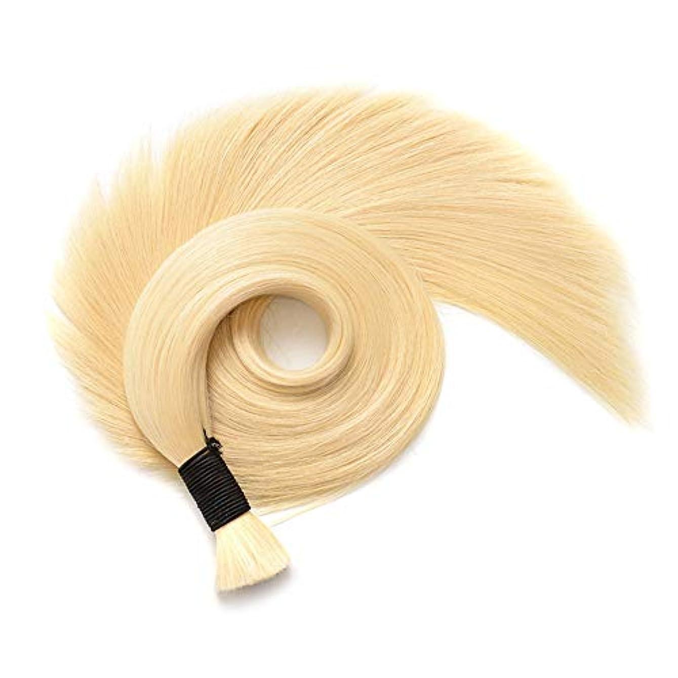 衝突頭痛額WASAIO ヘアエクステンションクリップシームレスな髪型の交換変更パッケージ毎のブリリアントブロンド人間ストレートナノリング延長50グラム (色 : 40cm)