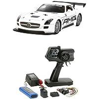 【セット商品】 タミヤ 1/10 電動RCカーシリーズ No.566 ベンツ SLS GT3 AMG + ファインスペック 2.4G 電動RCドライブセット