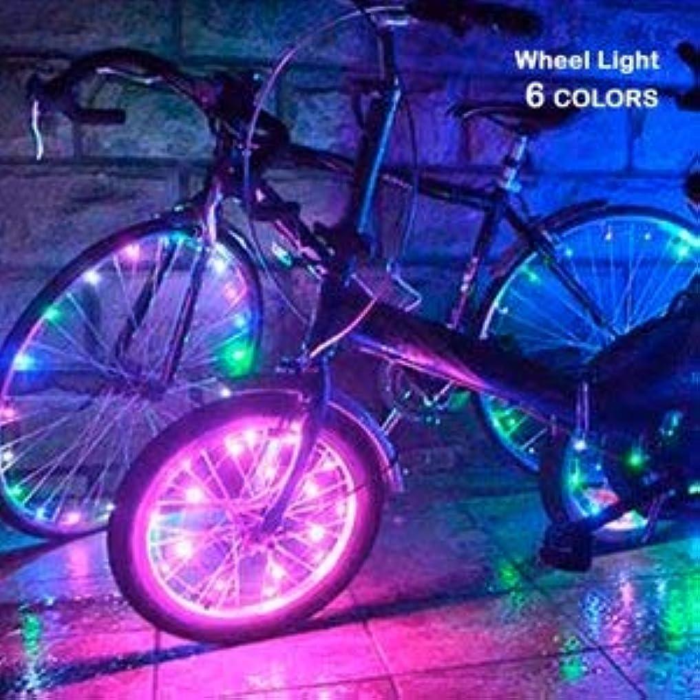 テスピアン絶滅した刃自転車ホイールライト 防水 LED ホイールライト イルミネーション 自転車タイヤ 事故防止 光る スポークライト 通勤 通学 点灯モード 電池式 LED20個
