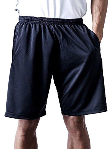 ティーシャツドットエスティー ハーフパンツ ドライ 無地 ポケット付き UVカット 4.4oz メンズ ブラック 3L