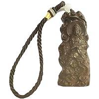 [ヨミト] 健康 お守り 木彫 観音 仏像 キーホルダー ストラップ 菩薩 風水 縁起物 開運