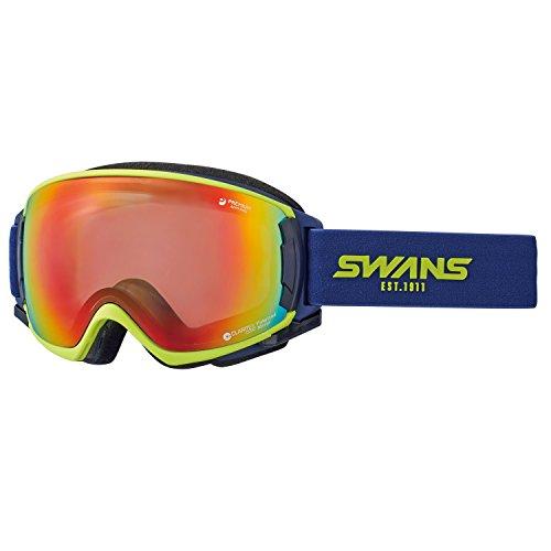 SWANS(スワンズ) ゴーグル スキー スノーボード ミラー偏光レンズ プレミアムアンチフォグ搭載 呼吸するゴーグル ロヴォ ROVO-MPDH-SC-PAF LIM ライム/シャドーミラー×偏光グレイレンズ