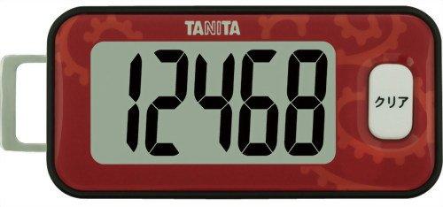 タニタ 3Dセンサー搭載歩数計 アカ FB-731-RD(1台)
