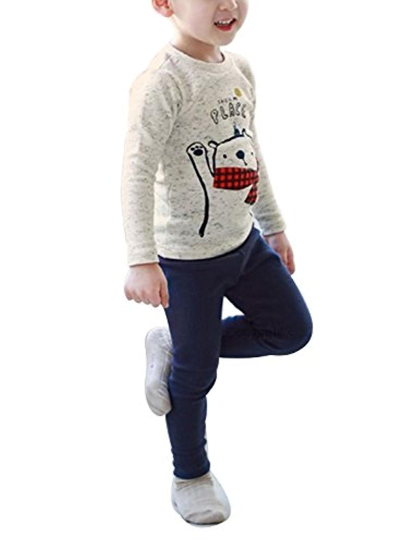 (ケヤカ) Keyaka 子供 パジャマ 部屋着 ルームウェア 寝間着 男女兼用 全4タイプ 長袖 綿100% 女の子 男の子 春 秋 冬 上下セット 幼児服 パジャマ キッズ 動物柄 星柄 可愛い 薄手 ソフト 子供服