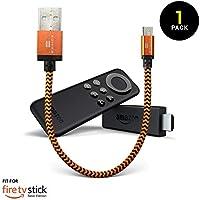 あなた専用のFire TV Basic Edition スティック。お使いのテレビのUSBポートからFire TVスティックを充電 (オレンジ)