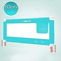 ZR- ベッドフェンスベビーアンチ秋\保護柵子ども大きなベッド垂直持ち上げベッドガードレール150\180\200cm (色 : Light blue-200cm)