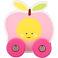 Ranvi 木製プルトイ 1歳 フルーツプッシュトイ 幼児 子供 子供 ピンク RV-PullToys-3
