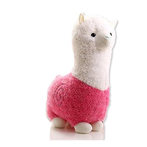 [ MT On&Do ] アルパカ ぬいぐるみ 抱き枕 クッション ふわふわ 可愛い プレゼント お祝い 癒やし 眠り 心地よい 温もり ピンク 55cm