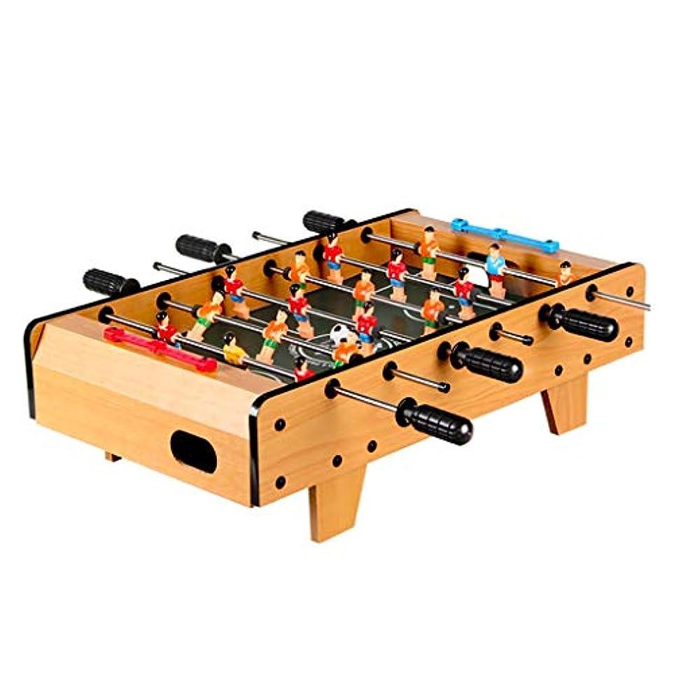 ピンポイント不確実波サッカーテーブルテーブルゲームフーズボールテーブル品質サッカーテーブルフットボールゲーム減圧小道具パズルゲーム3歳以上に適した子供のためのギフト (Color : WOOD COLOR, Size : 48.5*28.5*14CM)