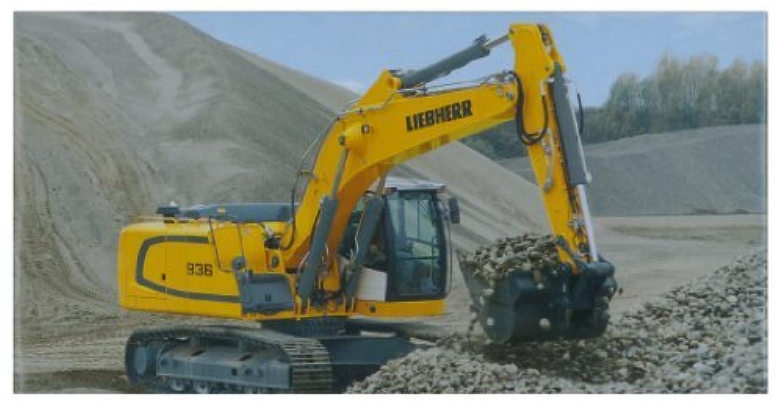 NZG 1/50 LIEBHERR R 936 C Ritoronikku Excavator by Kyosho [並行輸入品]