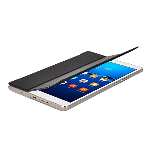 『Huawei MediaPad M3 8.4/ NTT docomo dtab d-03Gケース,【IVSO】Huawei MediaPad M3 8.4上質カバー スタンド機能 半透明PC + PUレザー ケース - Huawei MediaPad M3 8.4専用上質ケース 超薄型 最軽量(ブラック)』の5枚目の画像
