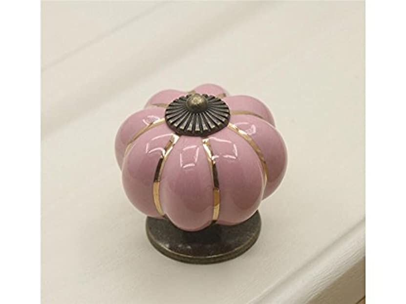 九はちみつ代理店Oside セラミックハンドルプルノブキャビネットカボチャのドアの棚の引き出しのロッカー(ピンク)
