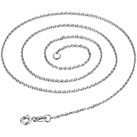 SUPVOX 24pcs Sweater Chain Necklace O Ring Chain with Lobster Clasp 18 Inch (Silver)