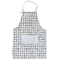 LHY- Apron Parent-Child apron Mother and Daughter Home Kitchen Creative Plaid Sleeveless Cute Apron Convenience (Color : D, Size : 55 * 78cm)