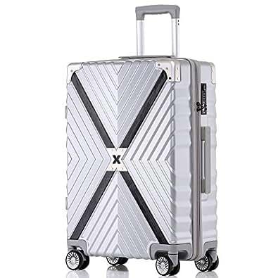 ボンイージ(bonyage) スーツケース ファスナー式 超軽量 TSAロック付 8輪 多段階調節 機内持込 旅行出張 1年保証 シルバー silver 2XLサイズ 約85L