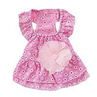 FidgetGear 2018犬プリンセス服ドレスレースフラワー子犬スカート用チワワヨーキーJO ピンク