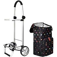 ZB ポータブル食料品のショッピングカート、折り畳みトロリー、ショッピングカート取り外し可能なバッグ防水45x33x100cm ABC (色 : マルチカラー まるちから゜)