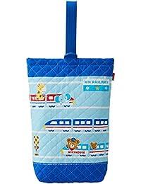 [ミキハウス] MIKIHOUSE キルティング上履き袋 11-8203-267 ブルー