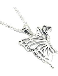 新宿銀の蔵 透かし模様の蝶 シルバー 925 ペンダントトップ (チェーンなし) レディース シンプル ちょうちょ 蝶々